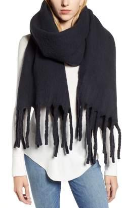 AllSaints Solid Brushed Wool Blanket Scarf
