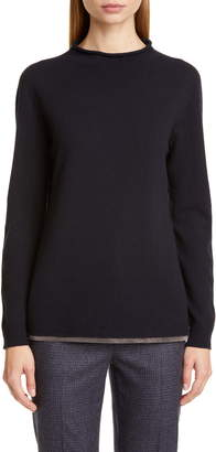 Fabiana Filippi Chain Hem Wool, Silk & Cashmere Sweater