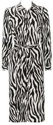 Wallis Black Zebra Print Shirt Dress