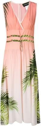 Sportmax Code palm print midi dress