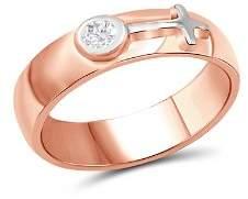 Love and Pride 14K White Gold & 14K Rose Gold Diamond Female Insignia Ring
