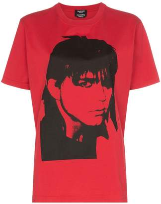 Calvin Klein portrait print cotton T-shirt