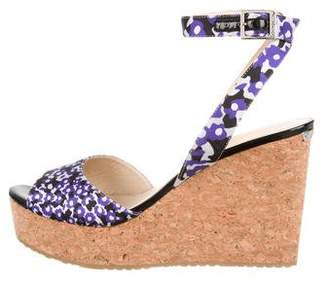 Jimmy Choo Floral Wedge Sandals