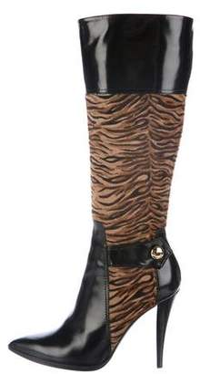 a. testoni a.testoni Ponyhair Knee-High Boots