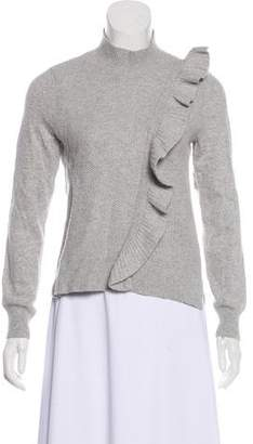 Rebecca Taylor Ruffled Mock Neck Sweater