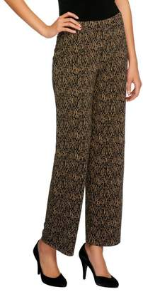 Susan Graver Heavy Liquid Knit Printed Pull-on Ankle Pants