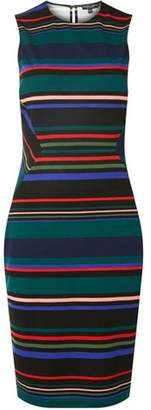 Dorothy Perkins Womens Multi Coloured Striped Pencil Dress