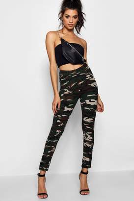 boohoo Pocket Front & Back Camo Jeggings