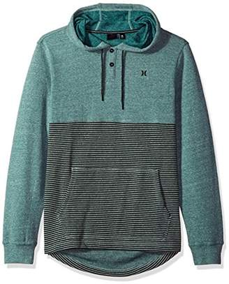 Hurley Men's Textured with Stripe Pullover Hoodie