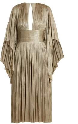 Maria Lucia Hohan Nadina pleated tulle midi dress