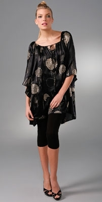 LaROK Circle Print Mini Caftan