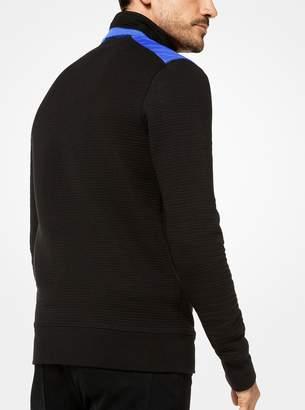 Michael Kors Cotton-Blend Quarter-Zip Pullover