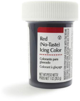 Wilton Red No-Taste Icing, 1 oz.