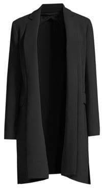 Fauna Stretch Wool Long Jacket