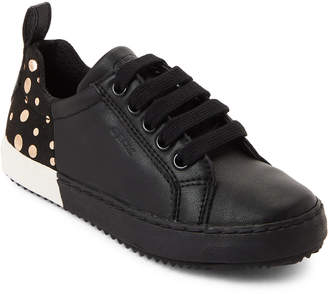 Geox Kids Girls) Black & Gold Kalispera Low-Top Sneakers