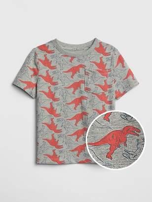 Gap Print Pocket Short Sleeve T-Shirt