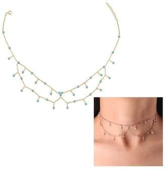 Gab+Cos Designs Gold Vermeil CZ Cluster Choker Necklace