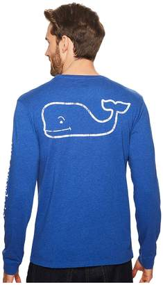 Vineyard Vines Long Sleeve Heather Vintage Whale Pocket Tee Men's T Shirt