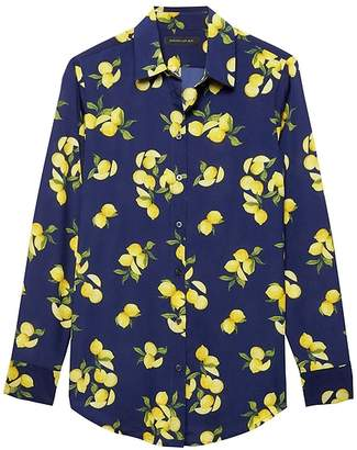 Banana Republic Dillon Classic-Fit Lemon Print Soft Shirt
