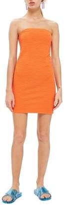 Topshop Textured Bandeau Dress
