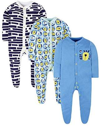 Mothercare Tiger Sleepsuits - 3 Pack,(Manufacturer Size:50)