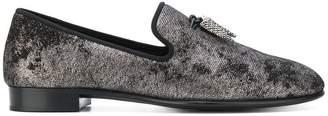 Giuseppe Zanotti Design Spacey dappled velvet slippers