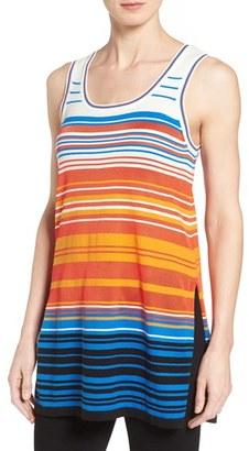 Women's Cece Stripe Sleeveless Sweater $79 thestylecure.com
