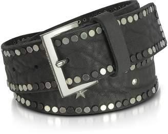 Zadig & Voltaire Black Studded Leather Starlight Belt