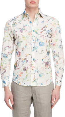 Ganesh Floral Embroidered Shirt