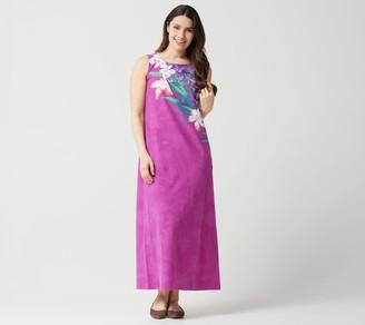 Factory Quacker Regular Floral Printed Knit Maxi Dress