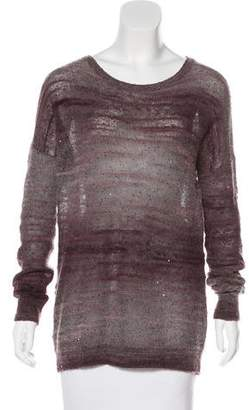 Vince Sequined Long Sleeve Sweater