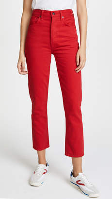 A Gold E AGOLDE Riley High Rise Straight Crop Jeans