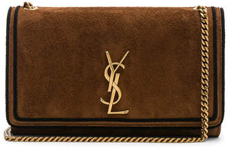 Saint Laurent Medium Suede Monogramme Kate Chain Bag