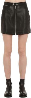 Belstaff Leather Biker Skirt