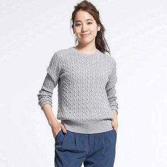 Women's Cotton Cashmere Cable Knit Sweater $29.90 thestylecure.com