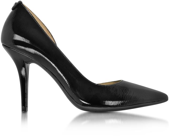 Michael Kors Natalie Black Patent Leather Flex High Heel Pump