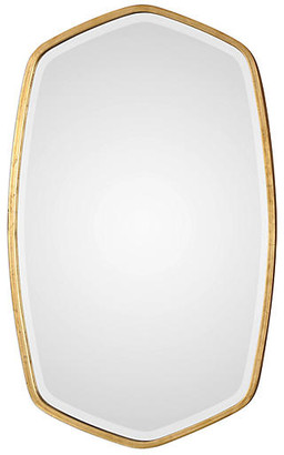 One Kings Lane Duronia Wall Mirror - Antiqued Gold Leaf