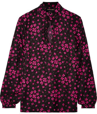 Vanessa Seward Elinor Silk-satin Jacquard Blouse - Black