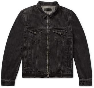 RtA Belted Distressed Denim Jacket