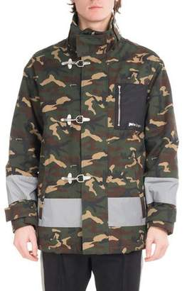 Palm Angels Camouflage Fireman Utility Jacket, Green