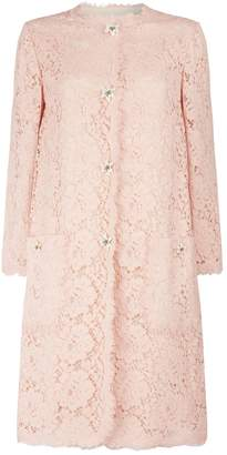 Dolce & Gabbana Lace Floral Button Coat