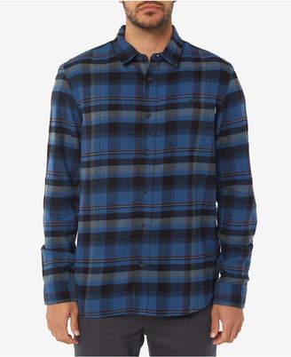 O'Neill Men Redmond Standard-Fit Yarn-Dyed Plaid Brushed Flannel Shirt