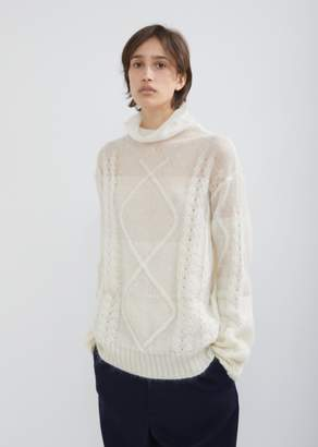 Maison Margiela Diamond Braid Sweater