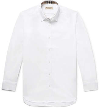 Burberry Slim-Fit Stretch-Cotton Poplin Shirt - White