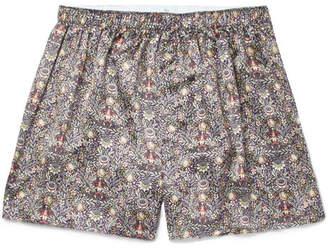 Sunspel Printed Silk Boxer Shorts