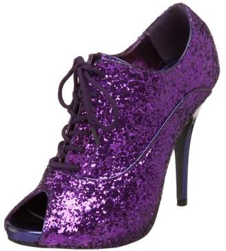 Pleaser USA Women's Wink 01 Peep Toe Glitter Oxford Pump