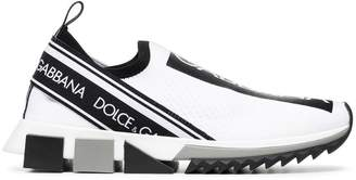 Dolce & Gabbana black and white logo print neoprene sneakers