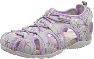 Geox Girl's JR Sandal Roxanne Fashion Sandals, Off White/Pink