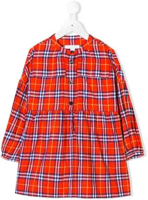 Burberry checked flannel dress