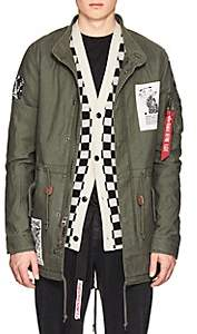 Alpha Industries MEN'S FRENCH KISS TUNNEL COTTON FISHTAIL PARKA-DK. GREEN SIZE L